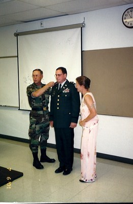 MG Erlandson and Gran't wife Marianne during his promotion ceremony to Colonel.