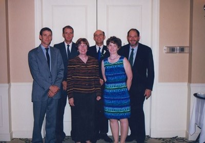 Heller Wedding with Bob, Pat, Jo, Larry, Kathy and Jim.
