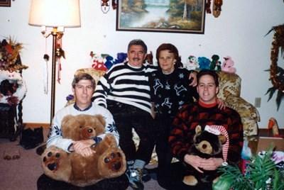 Christmas 2001 -- Bob, Olga, Bob Jr, and Nick