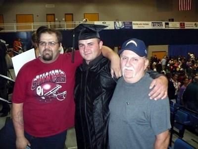 Gene and Boys at Graduation