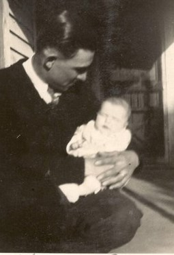1933 Ralph with his dad, Clinton