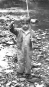 Roger's love for fishing starts very early - 1947