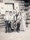 North Pole CO. August 30,1958, Deborah, Dean, Dianna & Danny with Santa Clause!!!