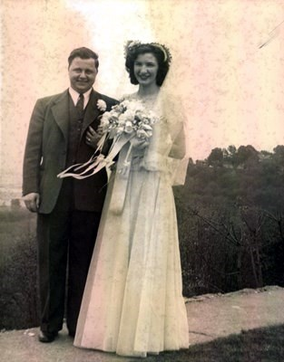 Mary Hasten married Jim Audett April 6, 1942 at Holy Rosary Church. They were married for 54 years